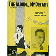 SOLD Old Sheet Music- The Album of My Dreams