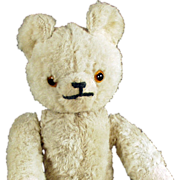 Old, Jointed, Mohair Teddy Bear with Glass Eyes