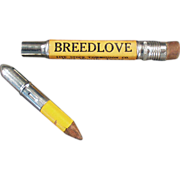 "Old, ""Breedlove"", Advertising Pencil"