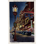 Old Postcard - Chinatown, San Francisco