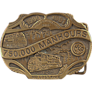 Old, Morrison Knudsen, Locomotive Shop, Belt Buckle