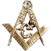 Old, Masonic Lapel Pin - Beautiful Detail