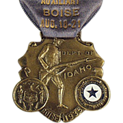 1935, American Legion Auxiliary Medal with Original Ribbon