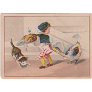 Old Trade Card - Moffitt's - Cute Design