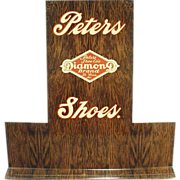 Old Shoe Stand - Advertising Peters Diamond Brand Shoes