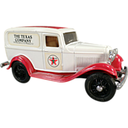 Texaco #3, Ford Delivery Van, Bank - Ertl Die Cast 1986