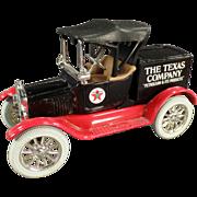 Texaco #5, Ford Runabout, Bank - Ertl Die Cast 1988