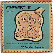 """Old, """"Eggbert"""" Cocktail Napkins"""