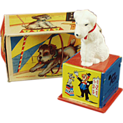 Old Wind Up Toy - Counting Dog with Box