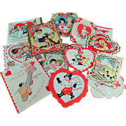 SALE Old Valentines -  Assortment of Fun Designs
