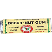 Old, Beech-Nut Gum, Sample Stick