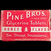 Old, Pine Bros.Cough Drops, Sample Box