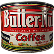 Old, Butter-Nut Coffee Tin - Key Wind