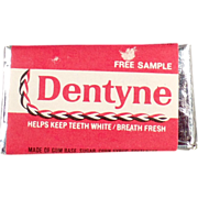 "Old "" Free Sample"" - Dentyne Gum Tab"