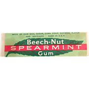 Stick of Old Chewing Gum - Beech-Nut Spearmint