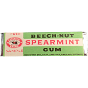 Old, Beech-Nut Spearmint Gum, Sample Stick