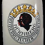 Old, German Beer Mug - Black Memorabilia