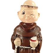 Old, Wind Up, Musical Decanter - Robed Monk