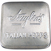 Old Advertising Tin - Huyler's Italian Pepps - Early 1900's