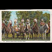 Old, Oregon Trail Souvenir Postcard with Bannock Indians