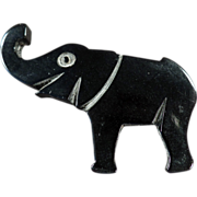 Lucky Elephant Pin in Deco Style