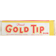 Old Chewing Gum, Single Stick -Gold Tip Fruit