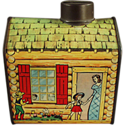 Old Advertising Bank, Log Cabin Syrup Tin