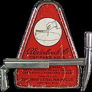 Old, Esterbrook Drafting Compass with Original Tin - 1920's