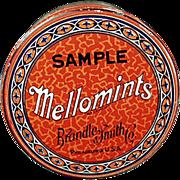 "Old, Brandle Smith ""Mellomints"", Sample Tin"
