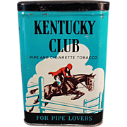 Old, Kentucky Club Pipe & Cigarette, Tobacco Tin