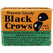 Old, Black Crow Candy Box - Sample