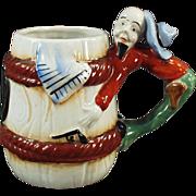 Old, Cowboy Handled Mug for Beer or Coffee - Occupied Japan
