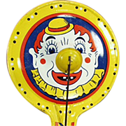 Old  Noise Maker Toy with Colorful Clown Face