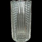 Old, Heisey Vase - Ridgeleigh Pattern, Clear