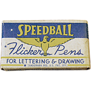Old, Speedball, Flicker Pen Nibs with Original Box