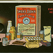 Old, Celluloid Blotter Advertising Swans Down Cake Flour