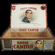 Old Cigar Box - Eddie Cantor Cigars - Wooden Box