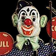 "Old, ""Jumpin' Jiminy"" Clown,  Lapel Pin with Original Packaging"
