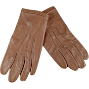 Old Leather Gloves for Very Small Child or Large Doll - Fownes London