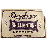 Old, Phonograph Needles - Bagshaw's Brilliantone - Partial Package