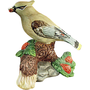Old, Porcelain Bird - Cedar Waxwing, Very Pretty Figurine