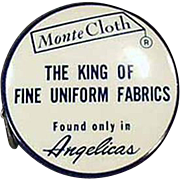 Old, Celluloid, Advertising Tape Measure -  Angelica Uniforms