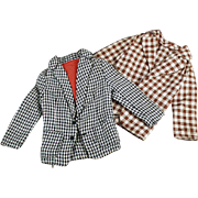 Two, Old Sports Jackets for Mattel Ken Doll