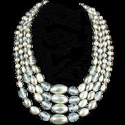 Old Bead Necklace - Multi-Strand & Very Pretty