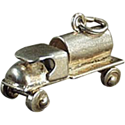 Old, C-Cab Tanker Truck, Sterling Silver Charm