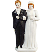 SALE Old, Bride & Groom, Wedding Cake Topper  - Occupied Japan