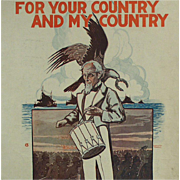 SOLD Old Patriotic Sheet Music- Official Recruiting Song by Irving Berlin