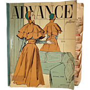 "1949 ""Advance"" Patterns Counter Catalog with 100's of Fashions"