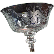 Old Heisey, Orchid Etch - Champagne Glass or Tall Sherbet - Four Available
