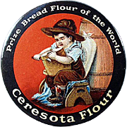 Old, Celluloid, Pocket Mirror - Ceresota Flour